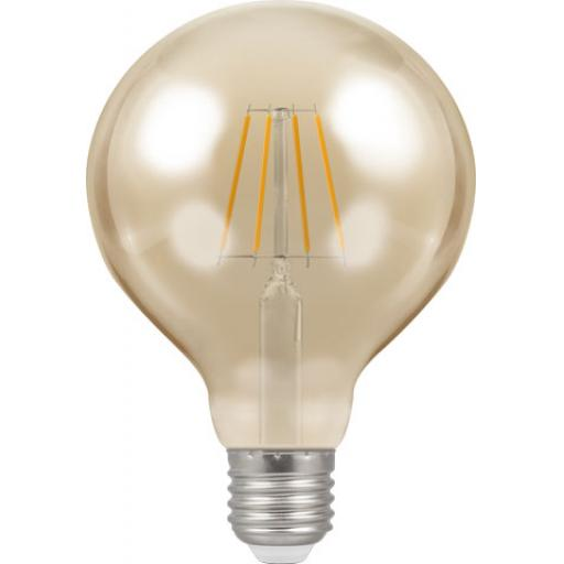 Dimmable 5w LED Filament Globe 95mm ES (E27)