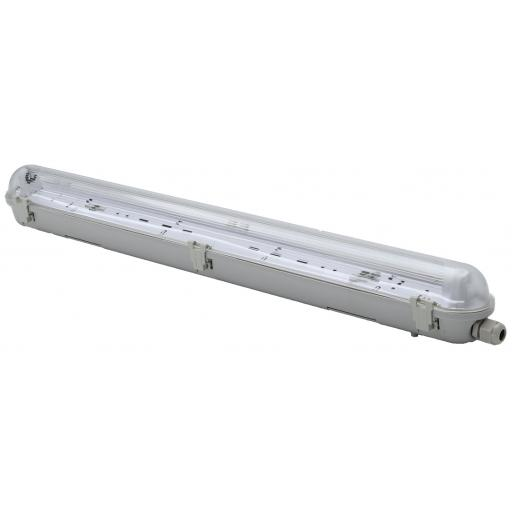 2ft Single Non Corrosive (IP65) Batten Fitting for LED Tube