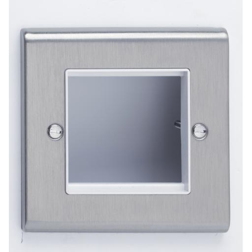 2 Module Data Plate Stainless Steel/White