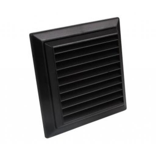 "4""/100mm External Wall Grille - Black"