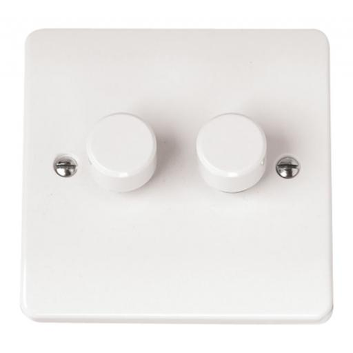 2 Gang 2 Way 250Va Dimmer Switch