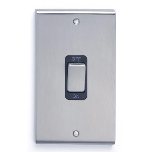 50A DP Tall Switch - Stainless Steel/Black