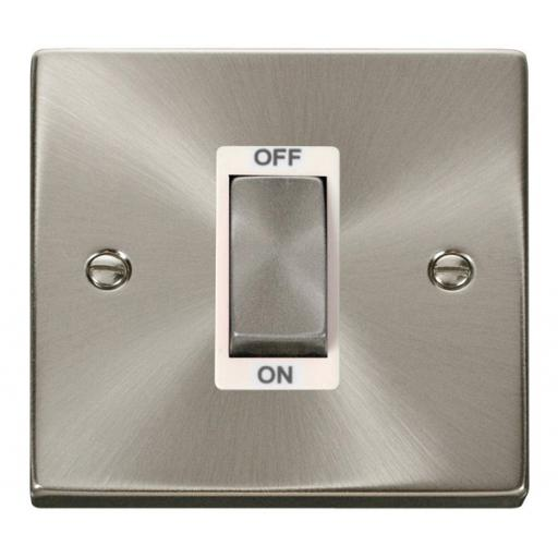 Ingot 1 Gang 45a Dp Switch - White