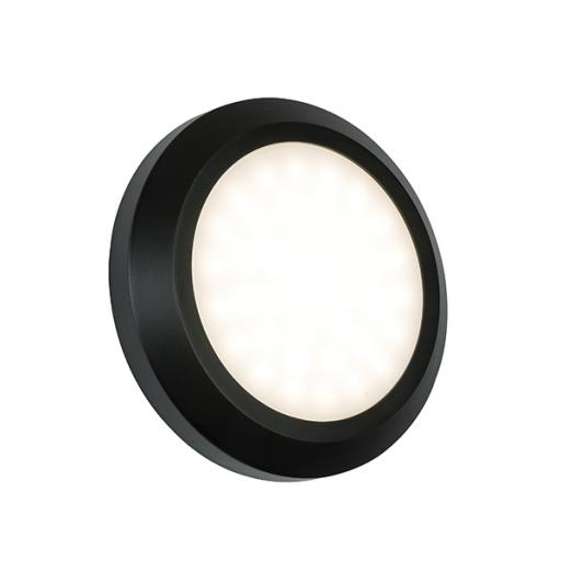 Severus Round Direct IP65 2W Warm White - Black ABS