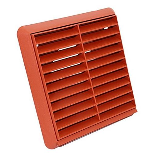 "4""/100mm External Wall Grille - Terracotta"