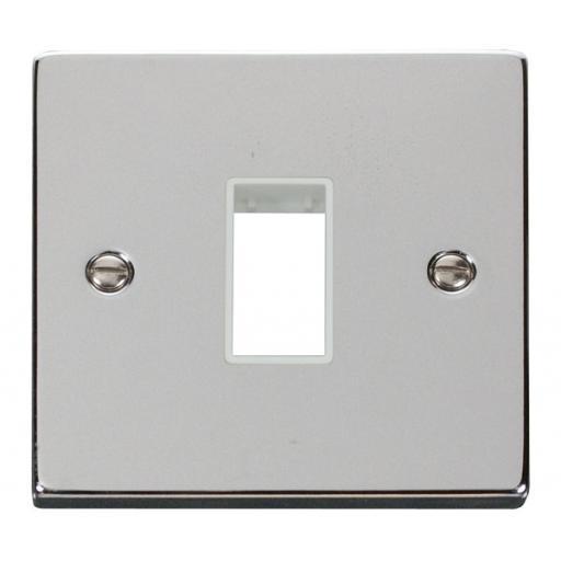 1 Gang Plate Single Aperture - White
