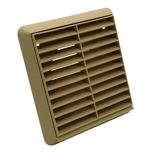 "4""/100mm External Wall Grille - Beige"