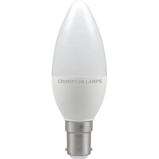 5.5W SBC (B15d) LED Candle - Warm White 2700k