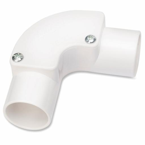 25mm Inpection Elbow White