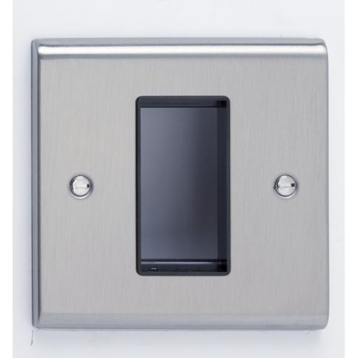 1 Module Data Plate Stainless Steel/Black