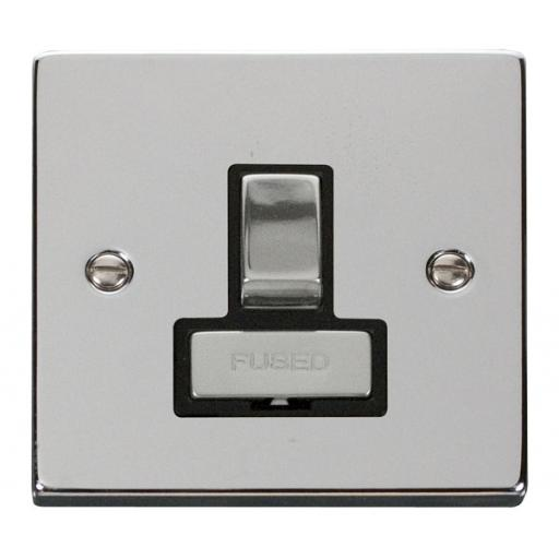 13a Fused 'Ingot' Switched Connection Unit - Black