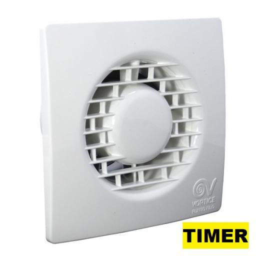 "Vortice Punto Filo MF 4""/100mm Extractor Fan - Timer"