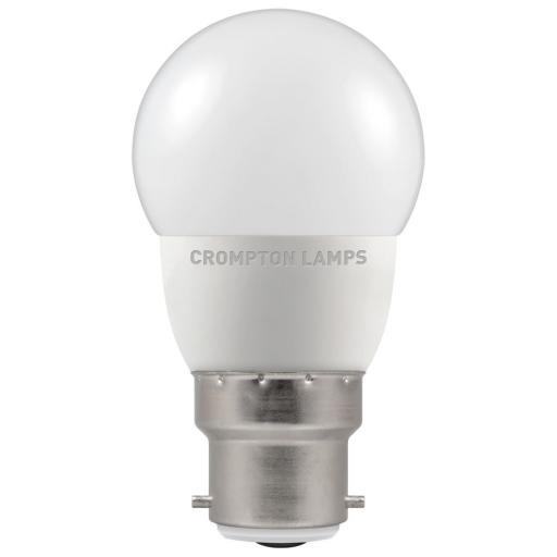 5.5W BC (B22d) LED Golf Ball - Warm White 2700k Dimmable