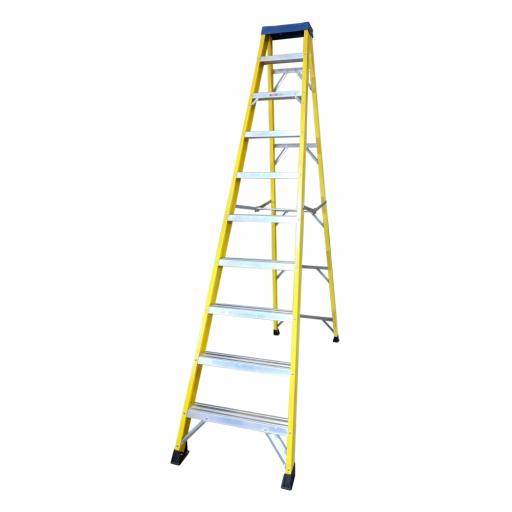 10 Tread Fibreglass Step Ladder
