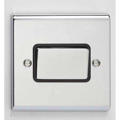 10A 3 Pole Fan Isolator Switch- Chrome/Black