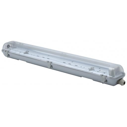 2ft Twin Non Corrosive (IP65) Batten Fitting for LED Tubes