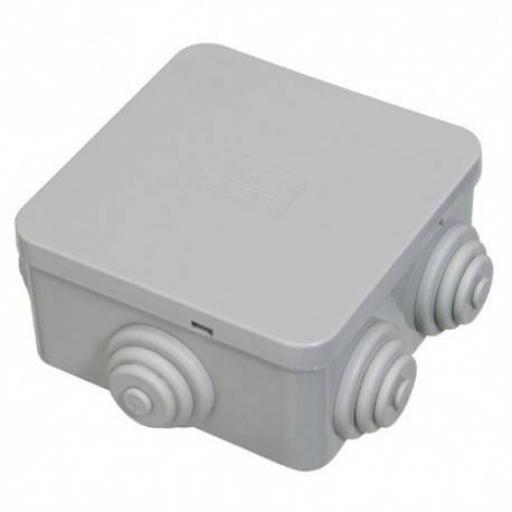 Plastic Junction Box w/ Grommets - IP44 (80x80x40 mm)