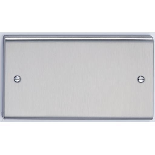 2G Blank Plate - Stainless Steel