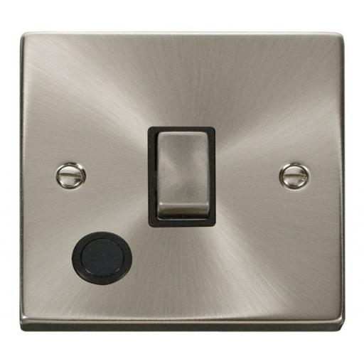 20a 1 Gang Dp 'Ingot' Switch With Flex Outlet - Black