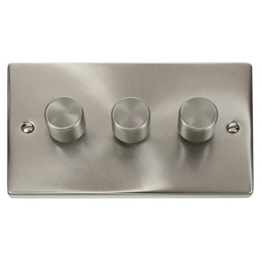 3 Gang 2 Way 400w Dimmer Switch