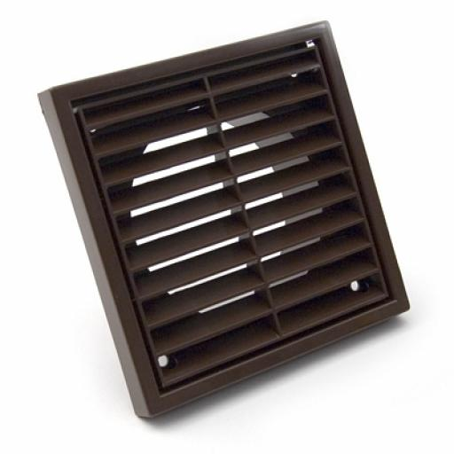 "4""/100mm External Wall Grille - Brown"