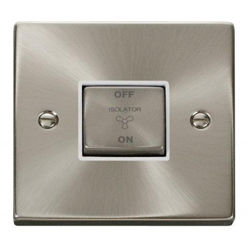 10a 1 Gang 'Ingot' 3 Pole Fan Isolation Switch - White