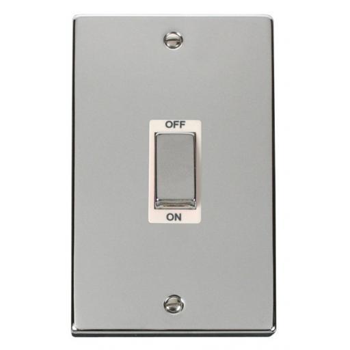 Ingot 2 Gang 45a Dp Switch - White