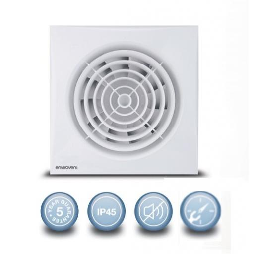 "Envirovent Silent 6""/150mm Extractor Fan - Timer"