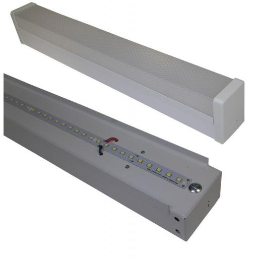 6ft Single Built-In-LED Batten Fitting 28w c/w Diffuser