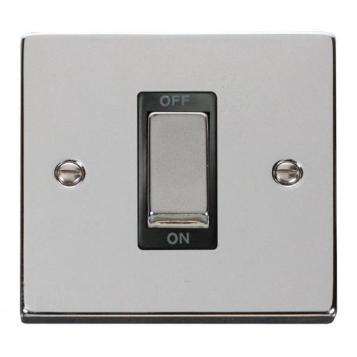 Ingot 1 Gang 45a Dp Switch - Black