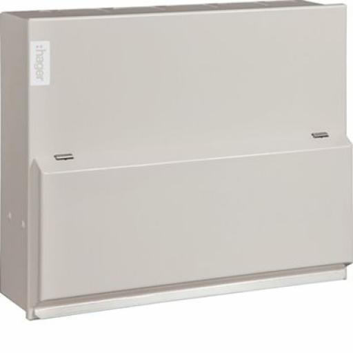 18th Edition 6W Split Load Consumer Unit (100a MS, 2x100a RCD) w/ 6xMCB