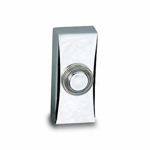 Deta Wired Door Bell Push - Chrome