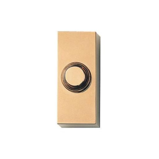 Wired Illuminated Bell Push - Brass