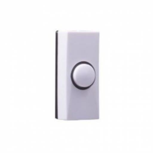 Byron Plastic Bell Push - White