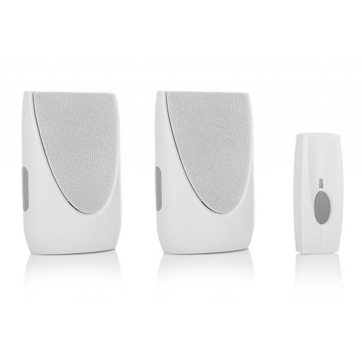 Byron Sentry 100m Wireless Portable & Plug-In Doorbell Kit