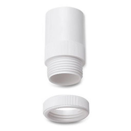 20mm Male Adaptors White
