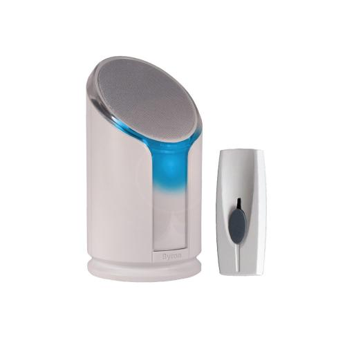 Byron Sentry Extra Loud Wireless Portable Door Bell Kit with Strobe Alert
