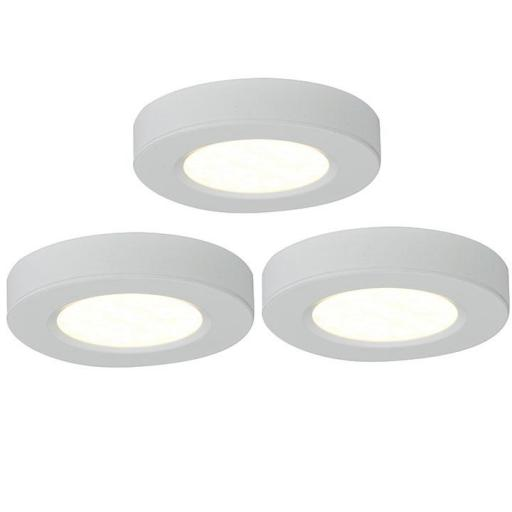 Trio 3000K LED Cabinet Light Kit White