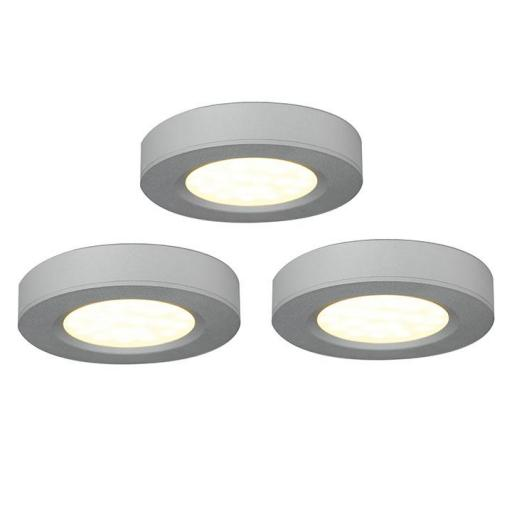Trio 3000K LED Cabinet Light Kit Silver