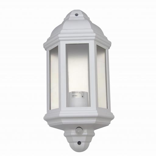 1/2 Coach Lantern with PIR Sensor & LED Lamp (2800K) - White