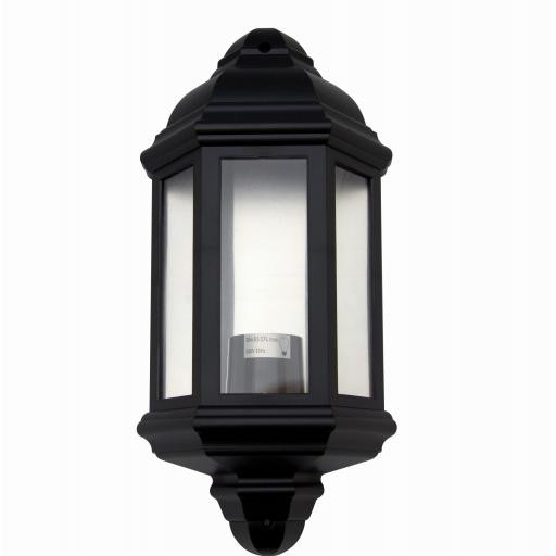1/2 Coach Lantern with PIR Sensor & LED Lamp (2800K) - Black