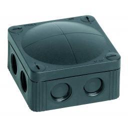 Wiska Black Plastic Junction Box - IP66 (110x110x66 mm)