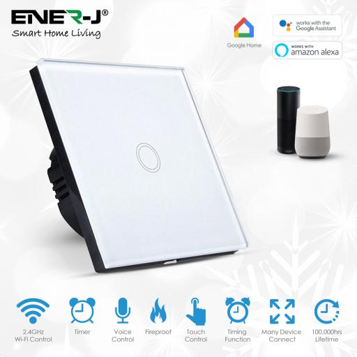 Smart WiFi Touch Switch 1 Gang (No Neutral Needed)